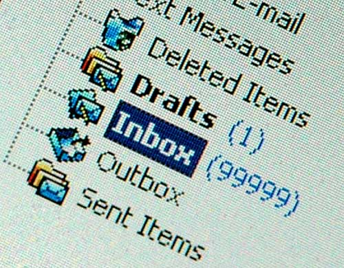 how to clear email backlog