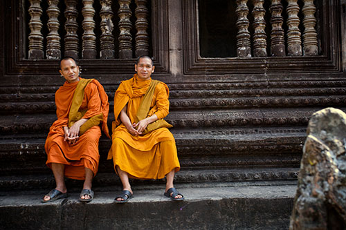 two monks and a maiden