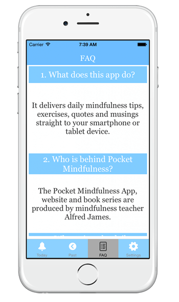 mindfulness app FAQ