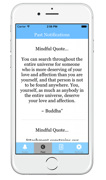 past notifications mindfulness app